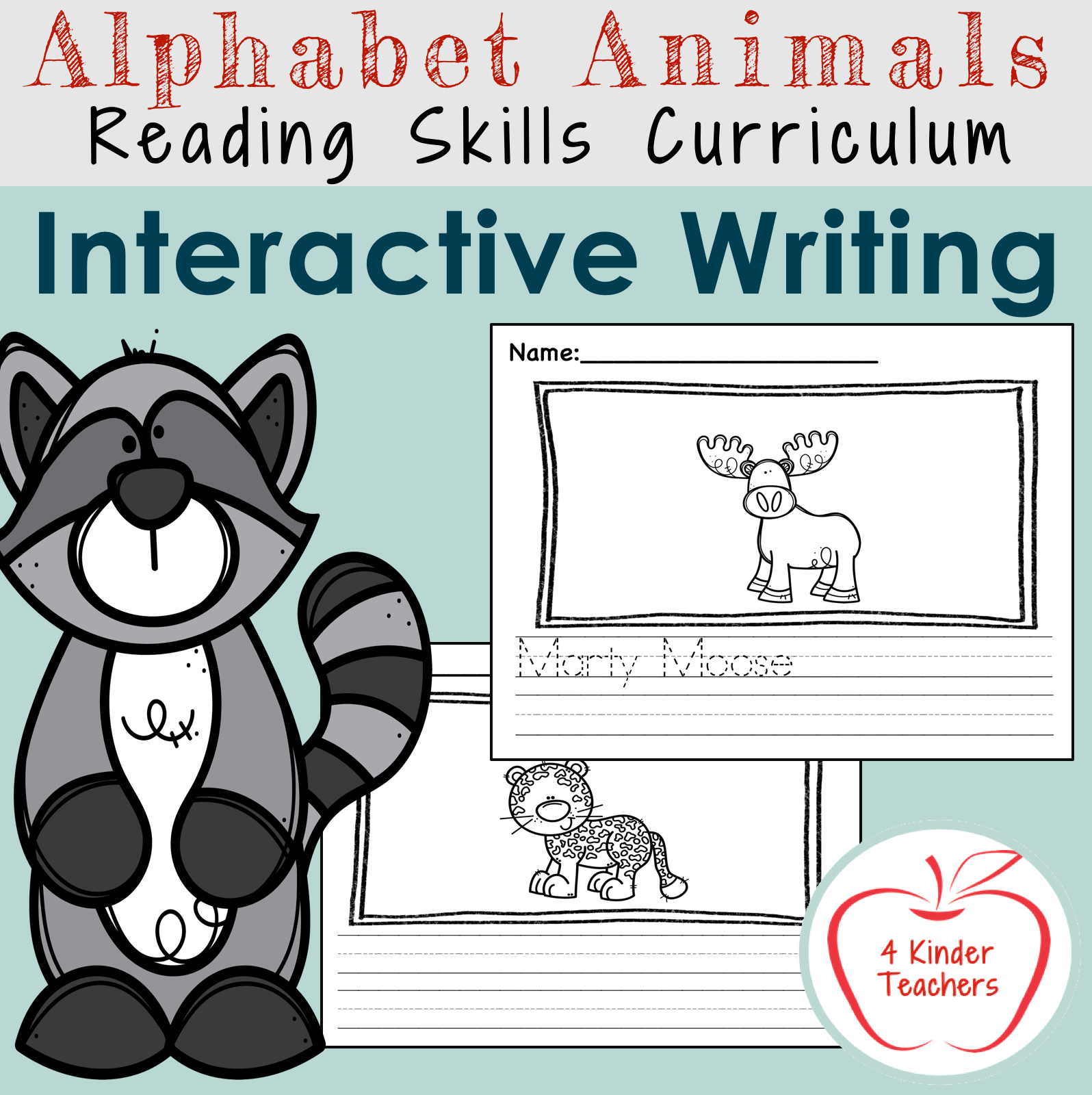 picture of interactive writing worksheets for kindergarten packet