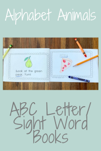 5 Ways you can use Printable Letter Books / Printable Sight Word Books