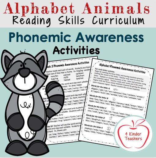 reading skills /phonemic awareness activities
