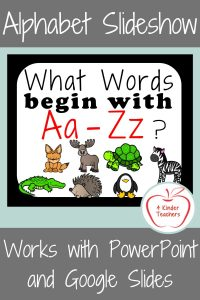 Alphabet Slideshow for Kindergarten with Beginning Sounds