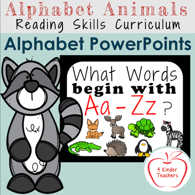 picture of cover of alphabet slideshows