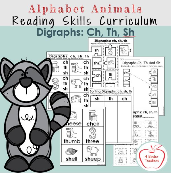examples of digraph worksheets for kindergarten