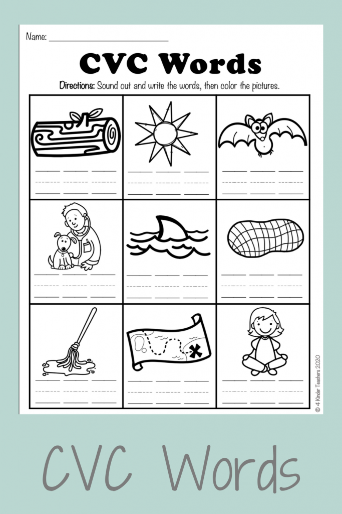 picture of cover of cvc words worksheets blog