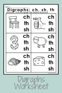 Digraph Worksheets for Kindergarten: A Great Way to Teach Digraphs