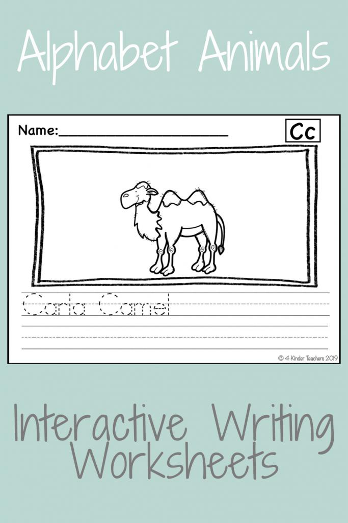 example of interactive writing worksheet carla camel