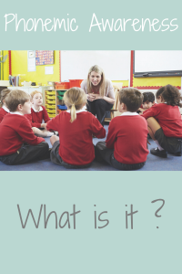 photo of teacher and students with text what is phonemic awareness