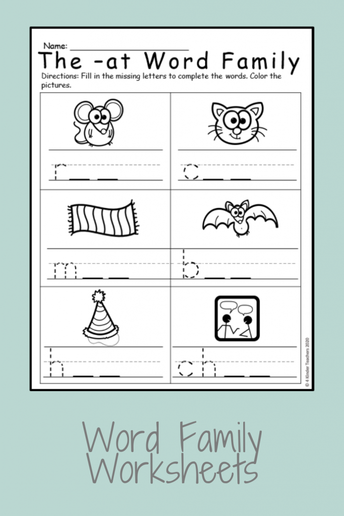 example of an at family worksheet