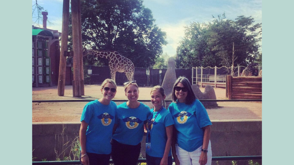 Teachers on a zoo field trip