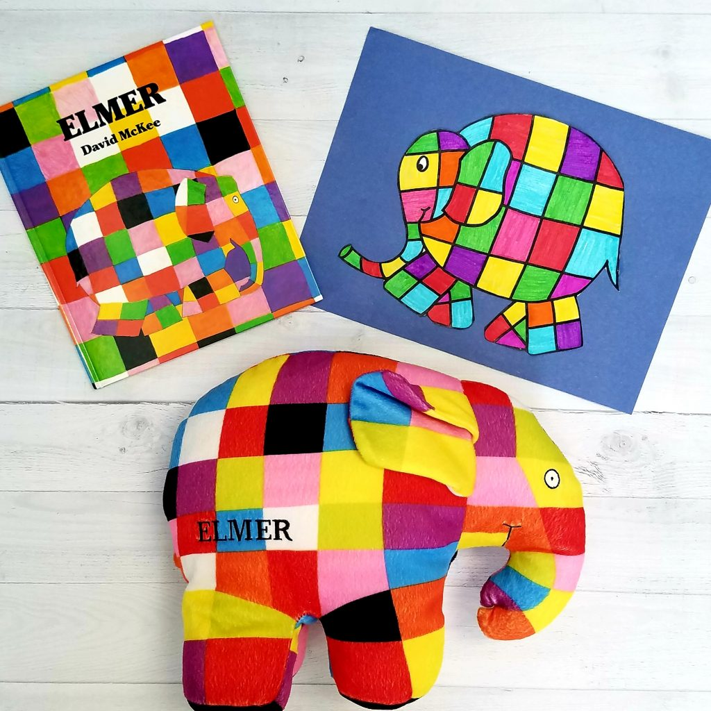 Elmer the Elephant Book and Kindergarten Art