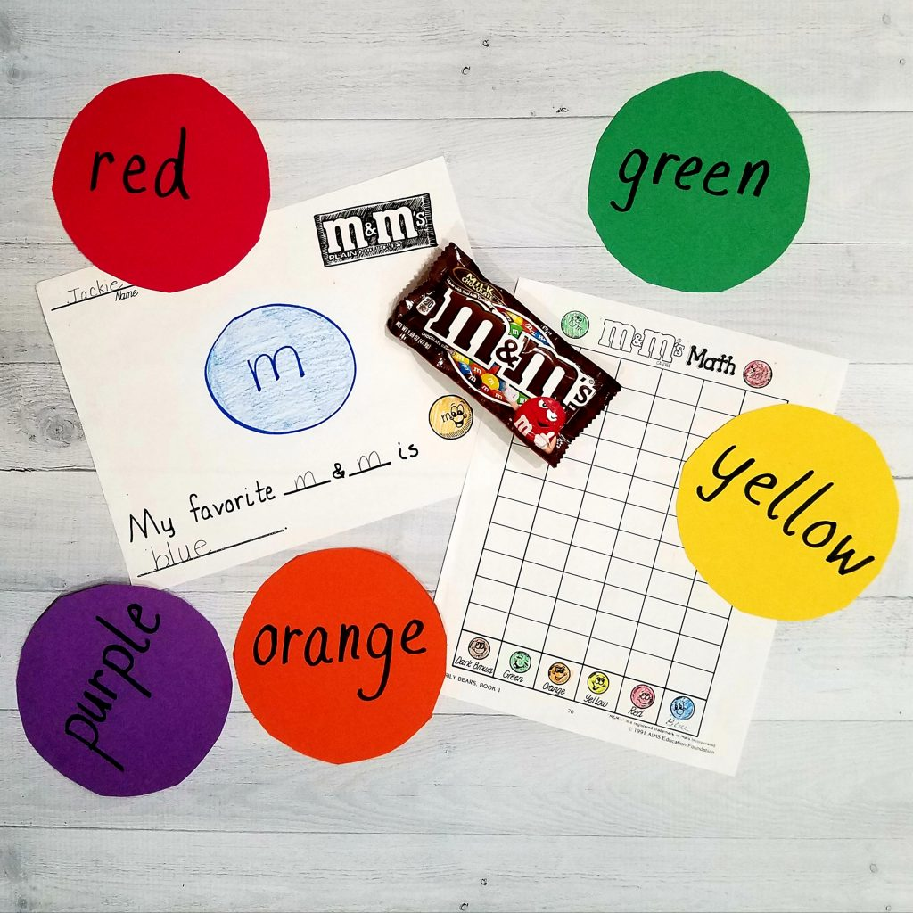 fun activity for kindergarten math graphing M&M's