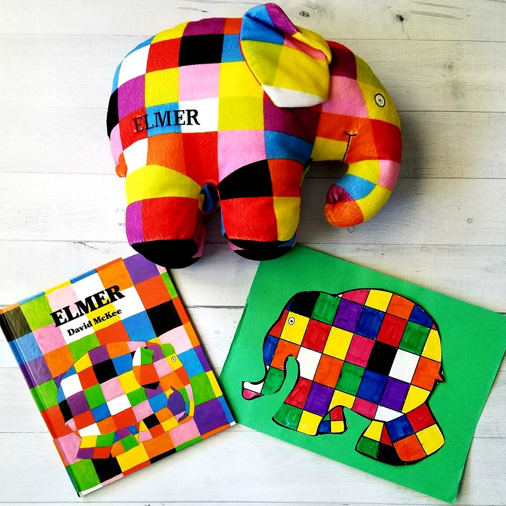 elmer the elephant with book and fun activity for kindergarten book and activity for kindergarten