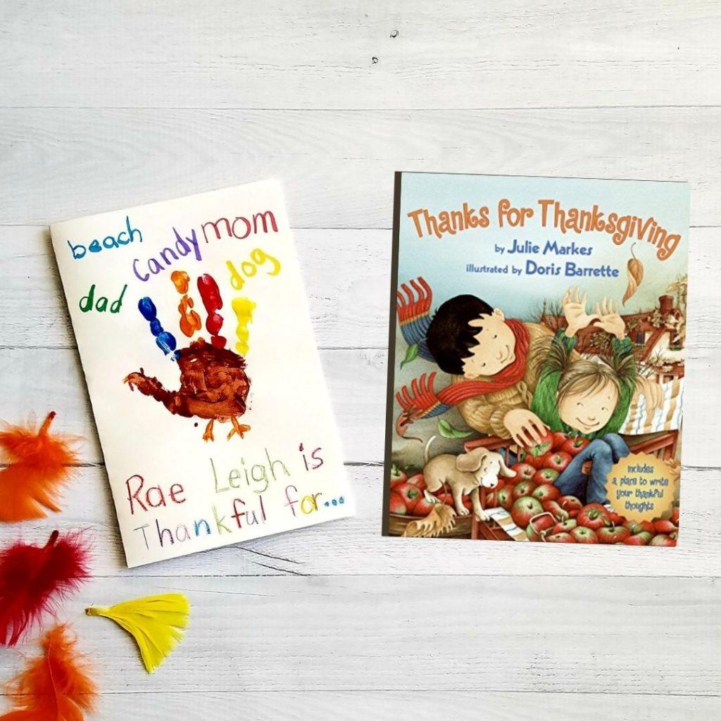 thanksgiving for kindergarten handprint turkey craft and book