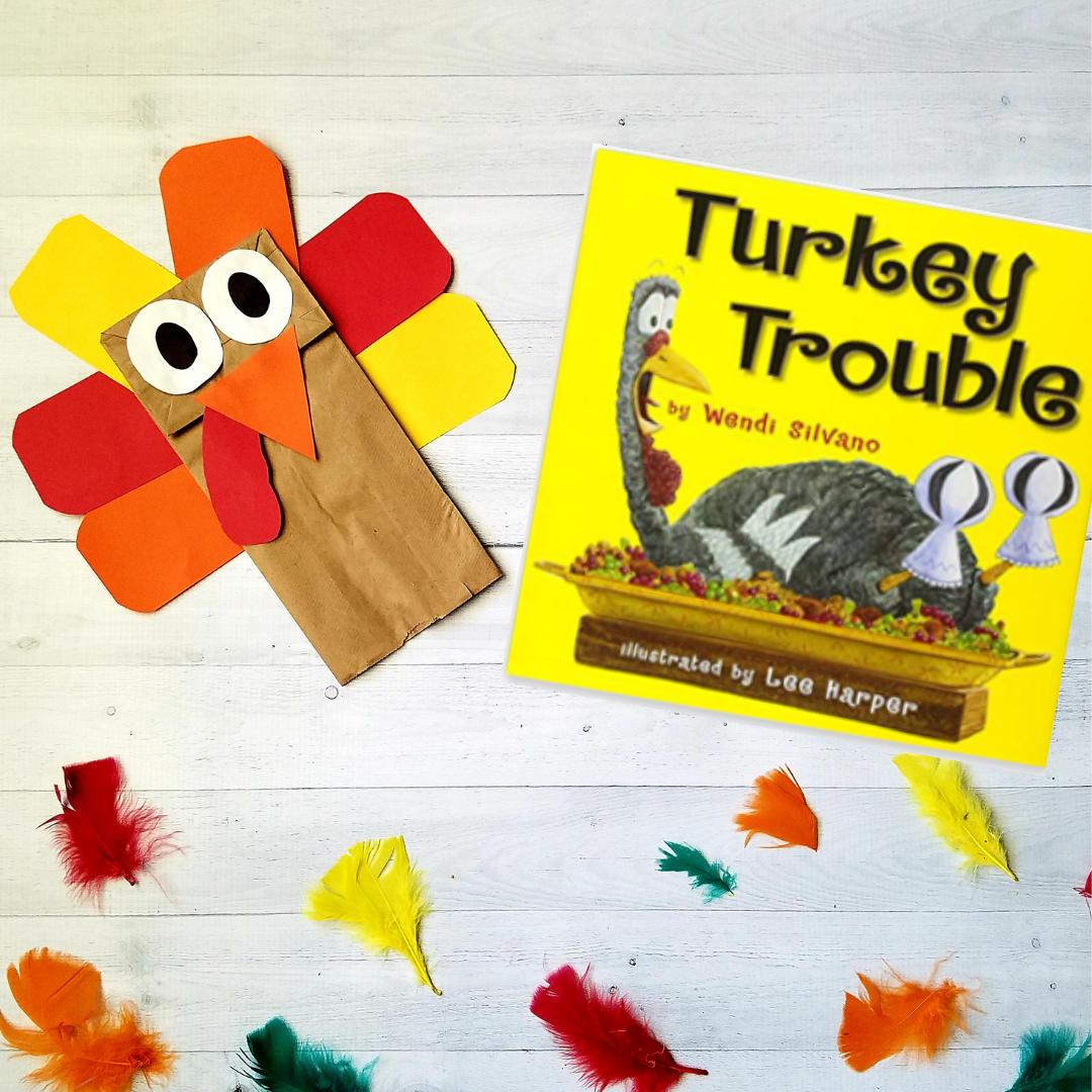 paper bag turkey thanksgiving activities for kindergarten