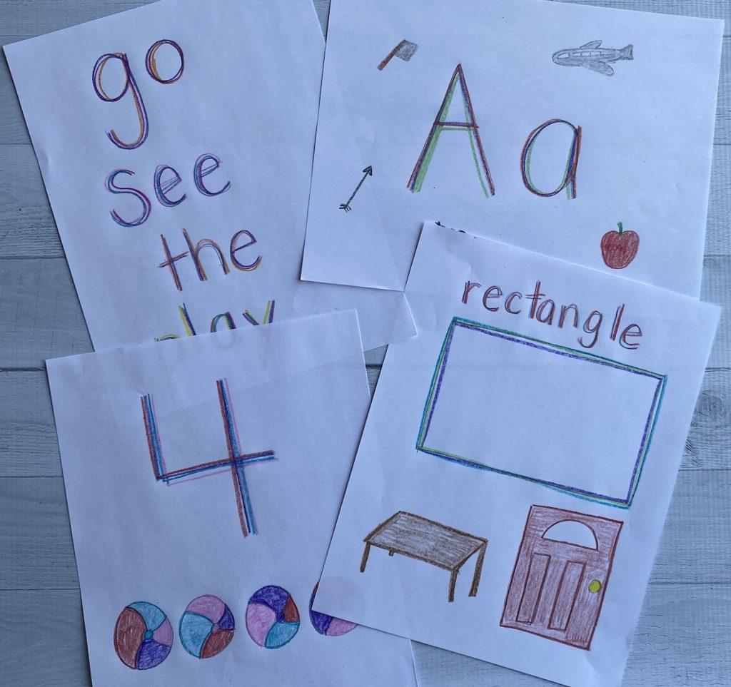 rainbow writing worksheets