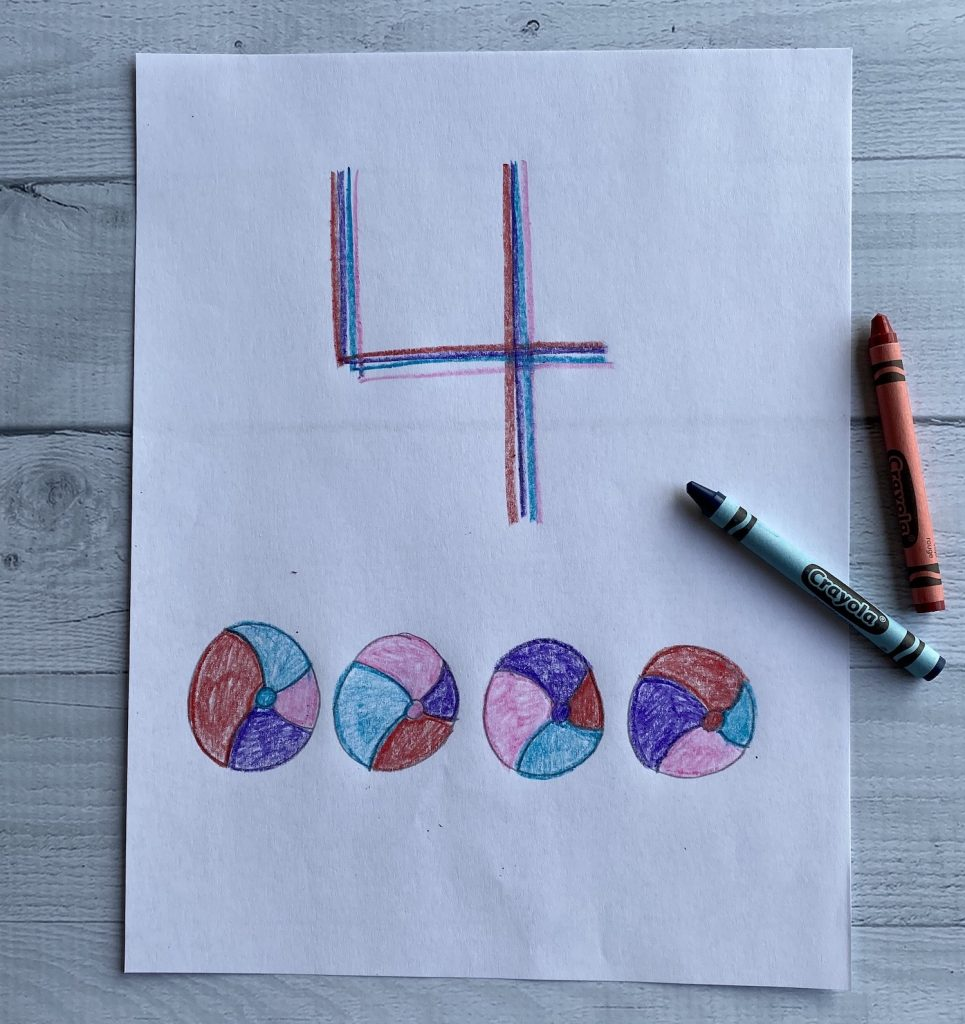 rainbow write numbers