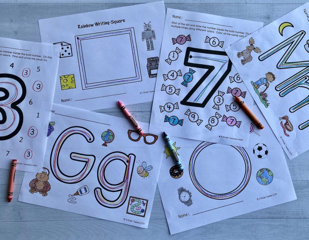 rainbow-writing-worksheets
