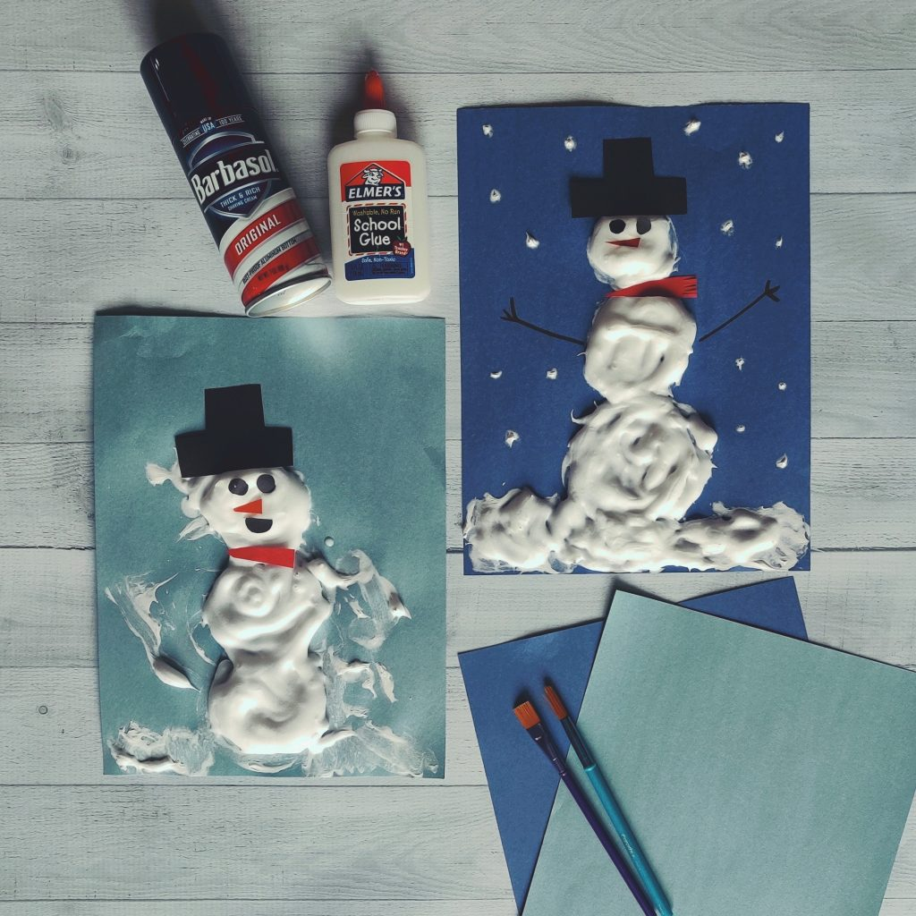 puffy snowman art