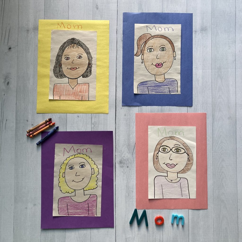 directed drawing of mom