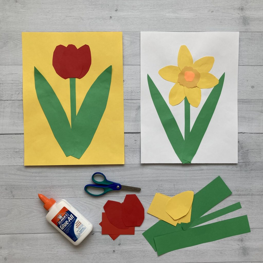 spring activities for kids flower making