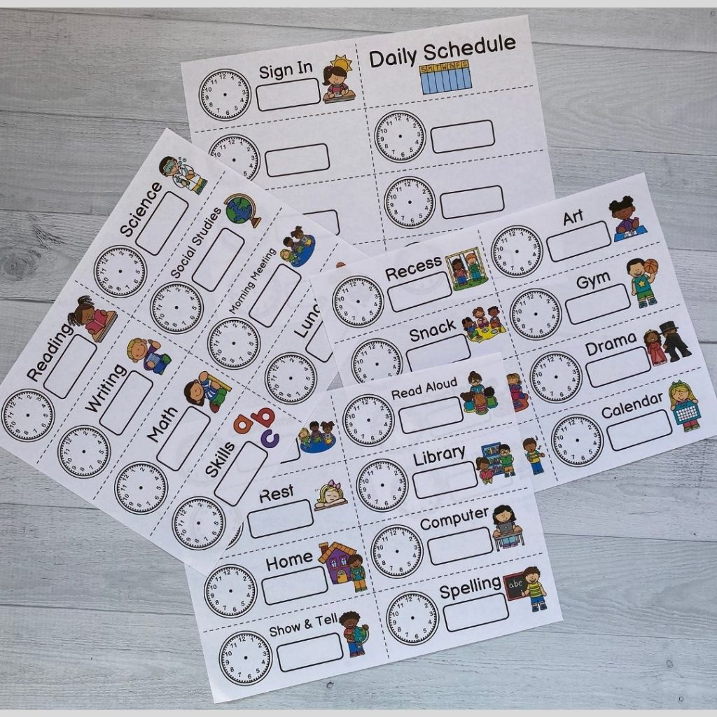 kindergarten-schedule-cards