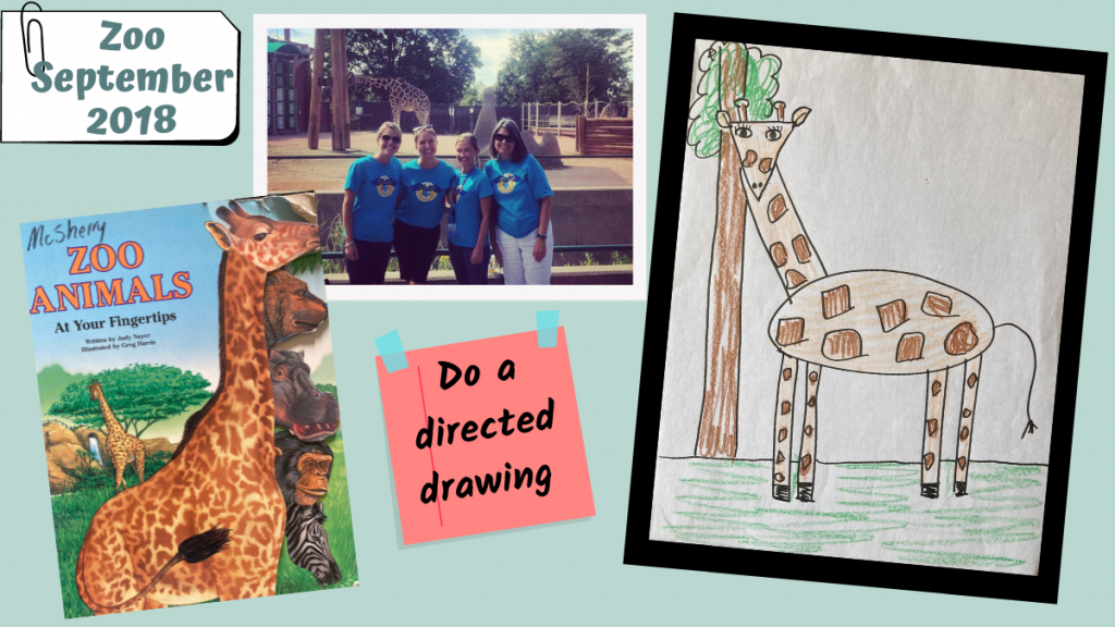 A directed drawing from a zoo field trip.