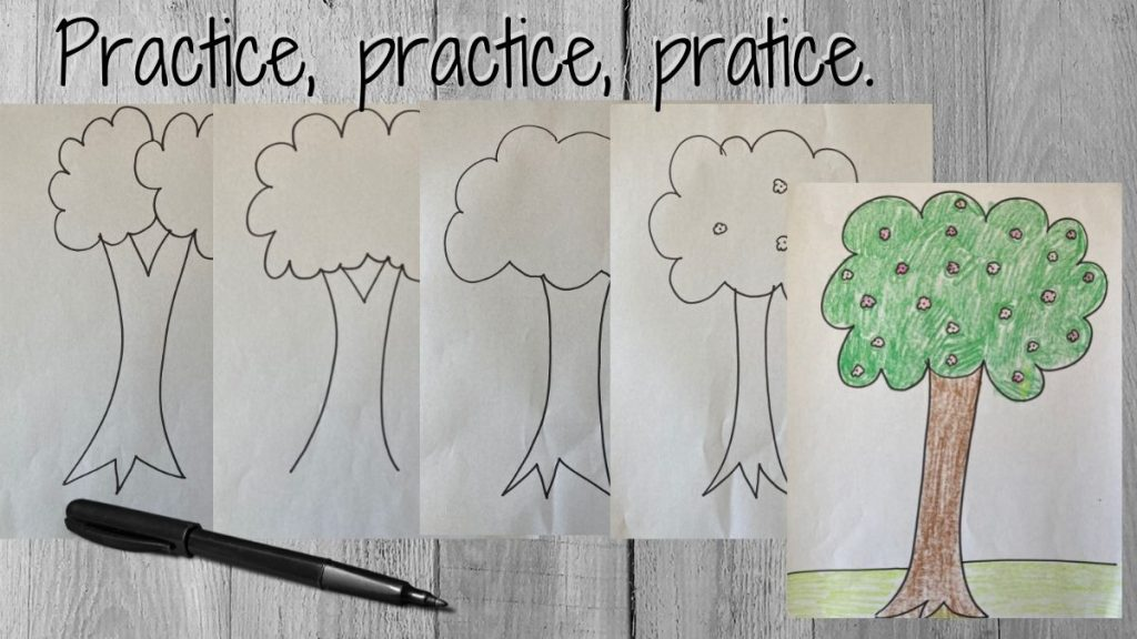 practice drawings of a tree