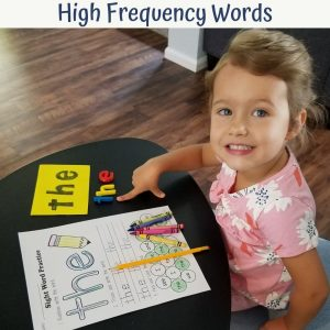 learning high frequency words in kindergarten