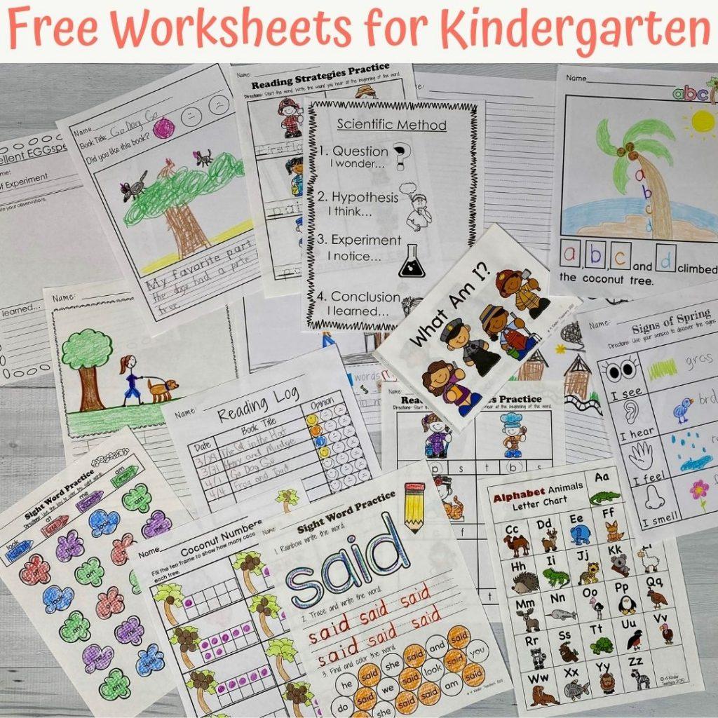 free kindergarten worksheets