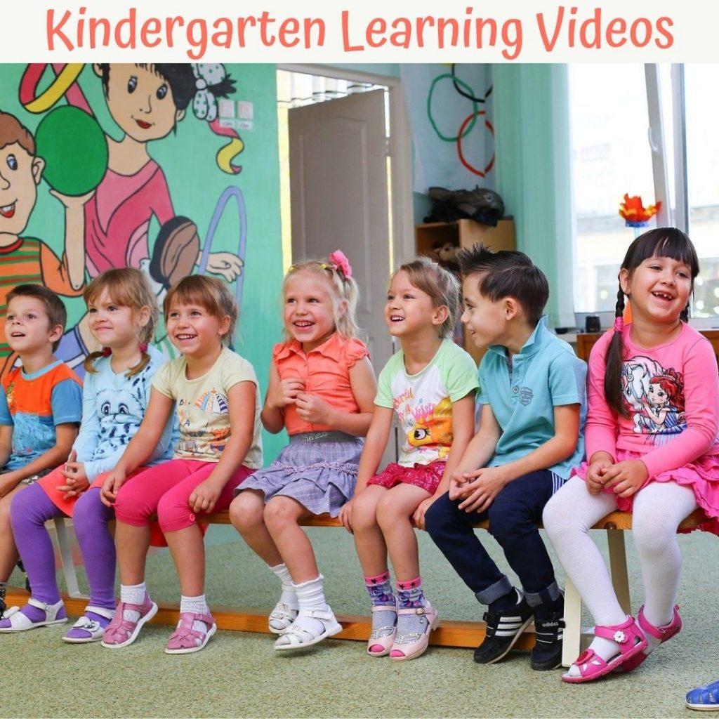 kindergarteners watching learning videos