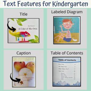 text features for kindergarten