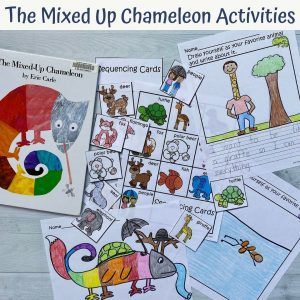 the mixed up chameleon book with activity pages