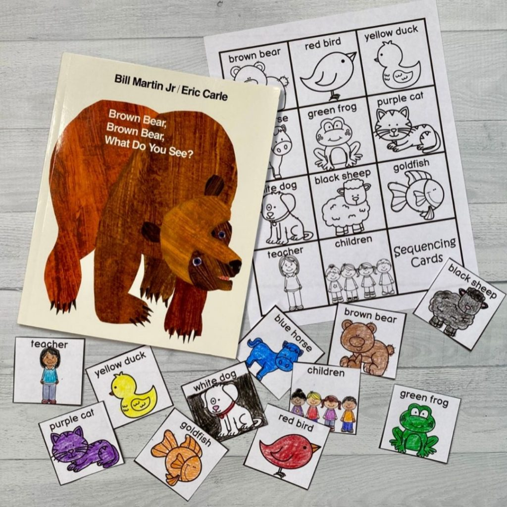 reading activities for brown bear brown bear