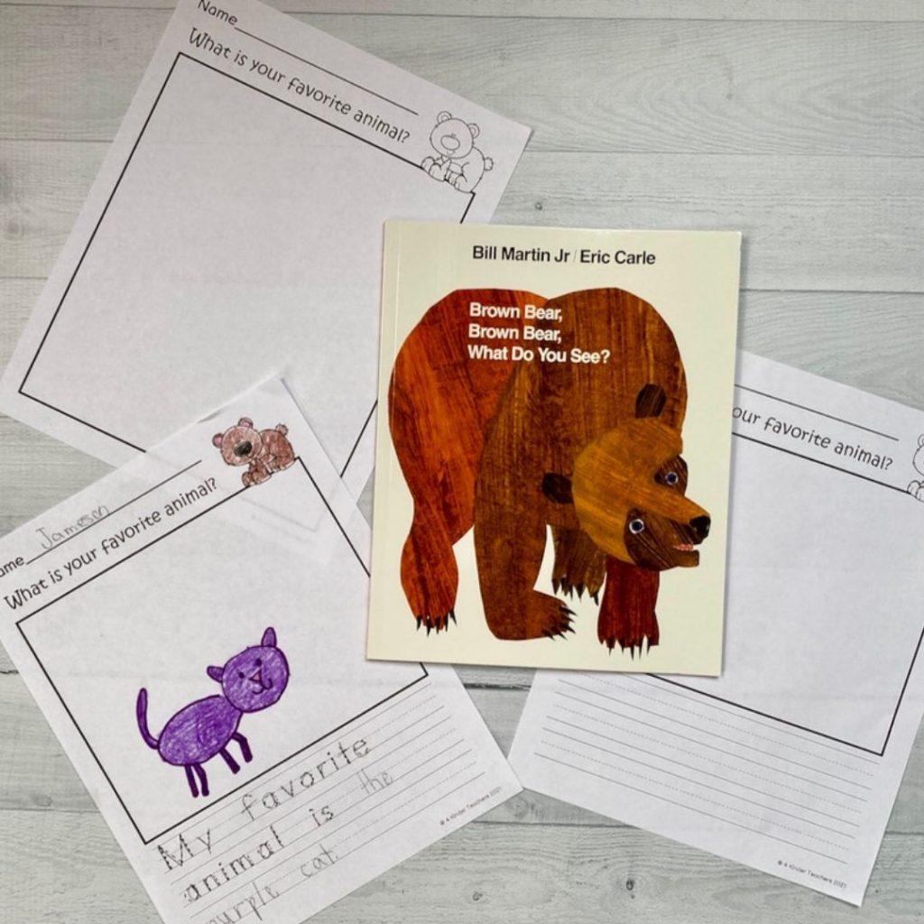 writing activities for brown bear brown bear
