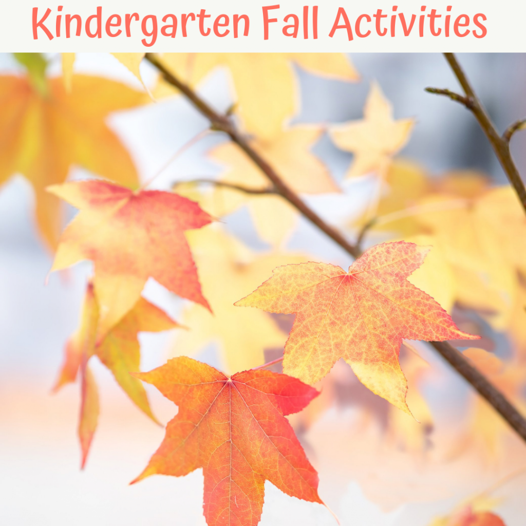 kindergarten fall activities cover with fall leaves