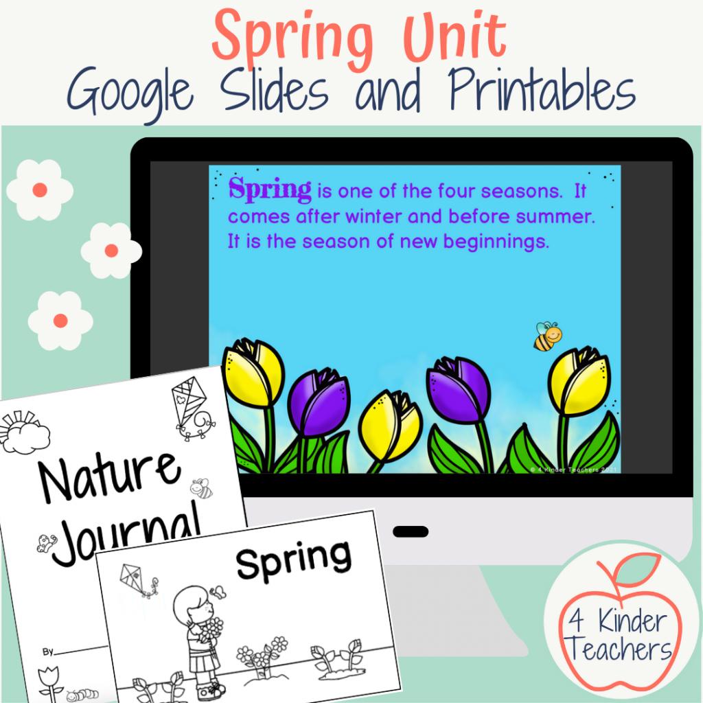 cover of kindergarten spring unit