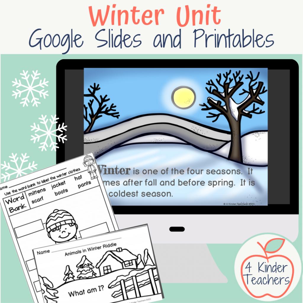 kindergarten winter unit