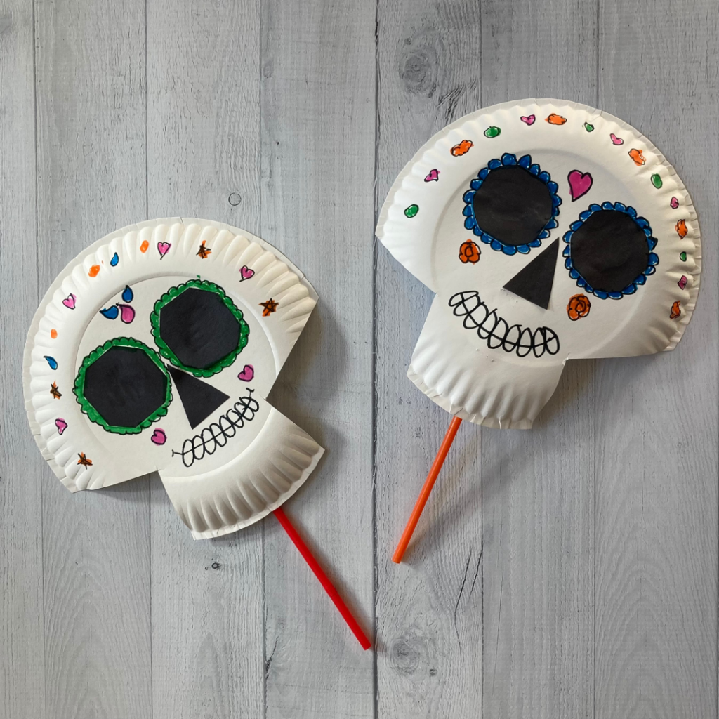 day of the dead skull mask craft for kids