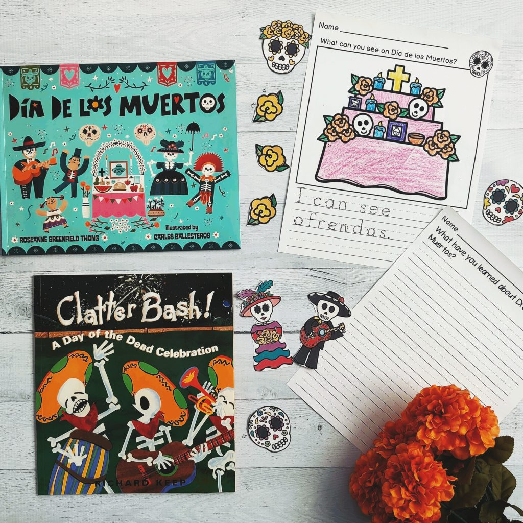 day of the dead books and worksheets for kids